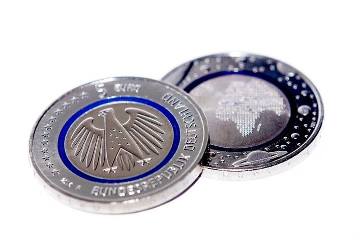 Die 5 Euro Münze Neue Sicherheit Im Zahlungsverkehr
