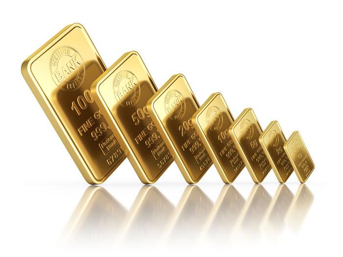 verschiedene-goldbarren