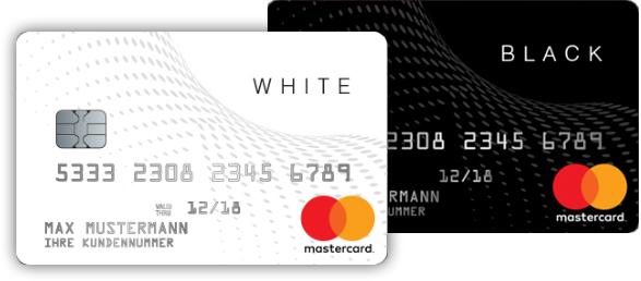 Black-White Prepaid MasterCard